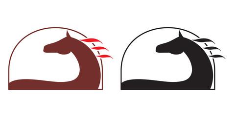 Horse symbol. Logo on white background. Vector