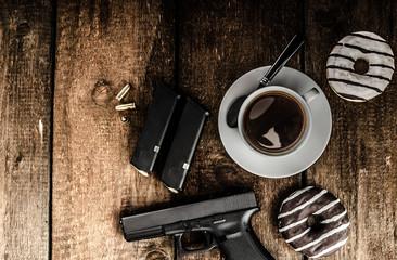 American police officer morning
