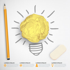idea bulb paper ball concept vector
