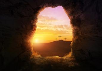 Empty tomb Wall mural