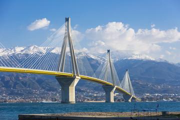 The Rio Antirrio bridge in Greece