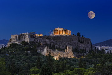 Wall Mural - Parthenon temple on the Acropolis of Athens,Greece