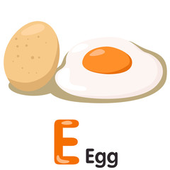 Illustrator of E font with egg