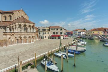 Fototapete - Murano island canal, Venice, Italy.