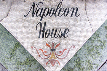 Napoleon House threshold in New Orleans.