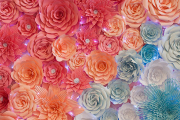 background of paper flowers