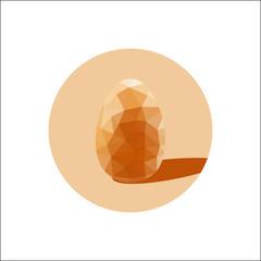 Geometric shape of egg. Easter egg triangular and isolated on