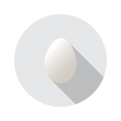 Realistic vector shape of egg. Easter egg shape and isolated on