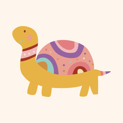 animal turtle cartoon theme elements vector,eps