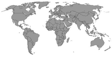 Weltkarte Neutral