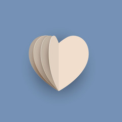 Vector papercraft heart