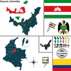 Map of Boyaca, Colombia