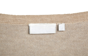 clothes with label tag