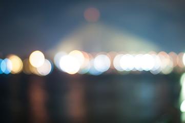 Blur light on the bridge