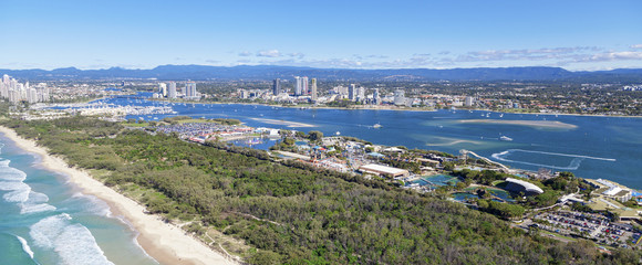 Aerial view of Southport and Broadwater