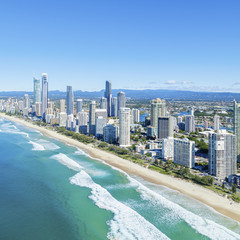 Sunny Surfers Paradise on the Gold Coast
