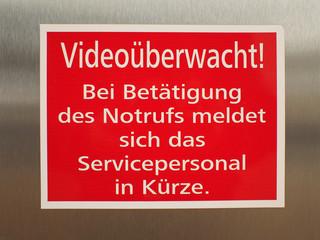 Videoüberwacht!
