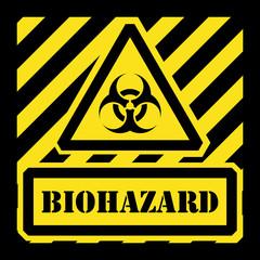 Vector biohazard sign yellow and black