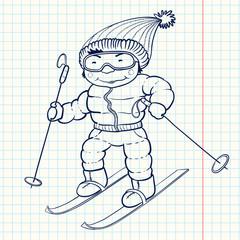 Doodle skier