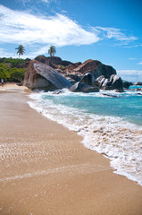 Attractive Beach at Virgin Gorda in the Caribbean