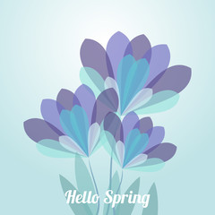 Abstract flower spring vector background illustration