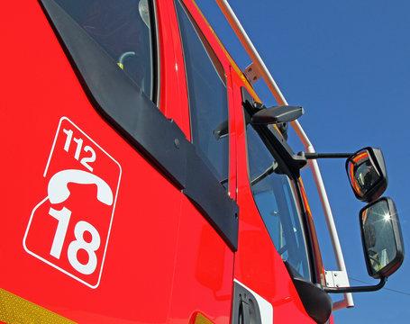 Cabine camion de pompiers