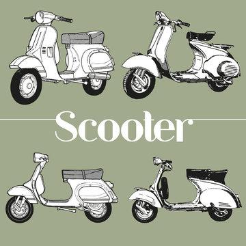Symbol lambretta vespa scooter mod