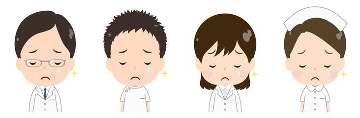 医者 看護師 悲しみの涙