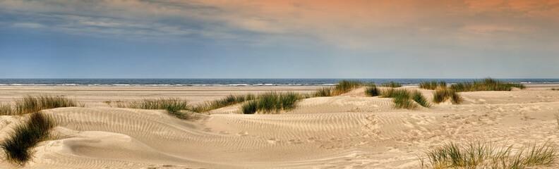 Fototapete - Norderney Panorama am Strand