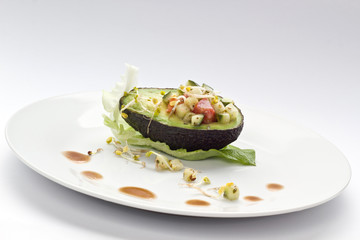 Stuffed vegan avocado