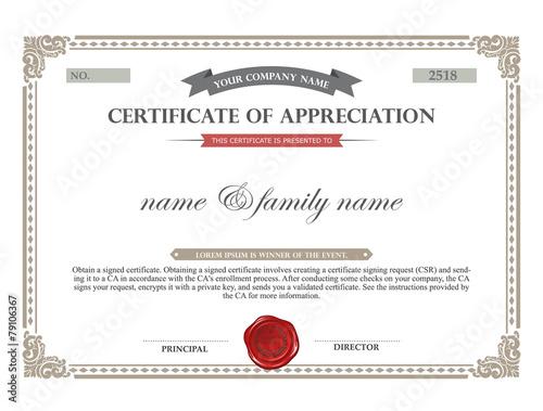 Art Certificate Template