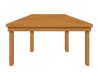 Wooden table isolated on white background. Vector illustration