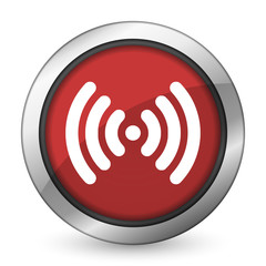 wifi red icon wireless network sign