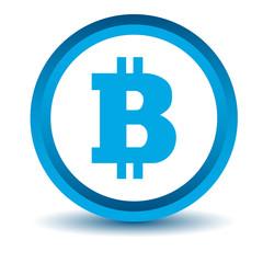 Blue bitcoin icon