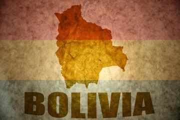bolivia vintage  map
