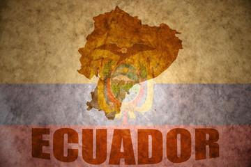 ecuador vintage  map