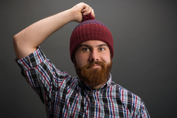 Portrait of a young Man with beard