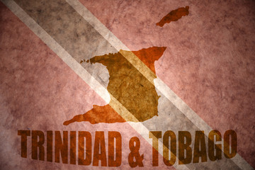 trinidad and tobago vintage  map