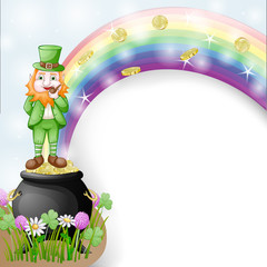 Illustration of joyful leprechaun