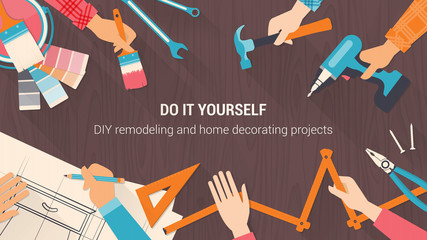 Do it yourself photos royalty free images graphics vectors diy banner solutioingenieria Choice Image
