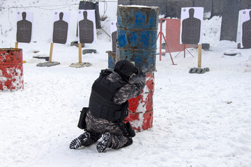 police training at the shooting range