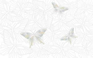 Desktop wallpaper - background with butterflies