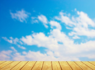 blur, blue sky Backgrounds and Wood Floor