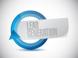 lead generation cycle illustration design