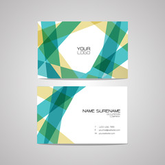 Vector business card design template, Can be edited