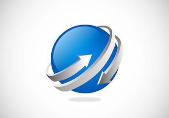 arrow-globe-sphere-rotation-vector-logo