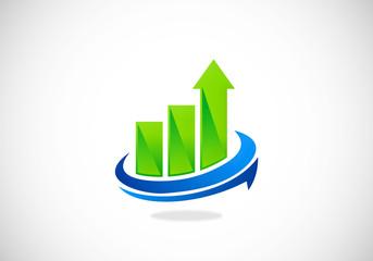 business corporate finance graph vector logo