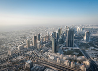 Dubai in Tilt Shift Effect
