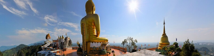 View from Buddhist Tiger cave temple, Krabi, Thailand