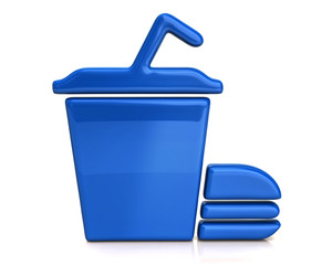 Blue fast food icon